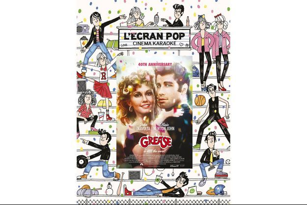 L'affiche de l'Ecran Pop Grease.