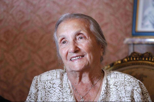 Rosa Bouglione en 2014, chez elle à Paris.