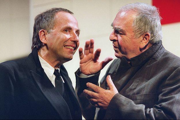 Claude Evrard (à droite) aux côtés de Fabrice Luchini