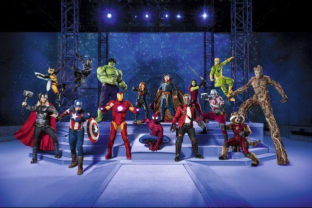 Les super-héros partent en live