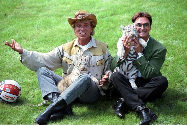 Siegfried Fischbacher, à gauche, et Roy Horn, à droite, en 1997.