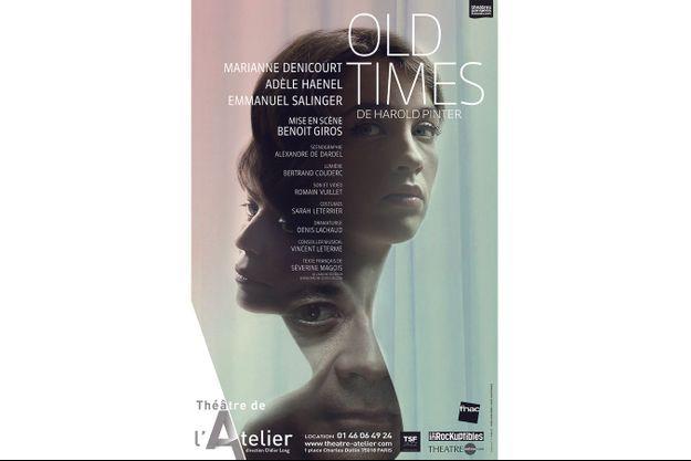 Old Times d'Harold Pinter au Théâtre de l'Atelier