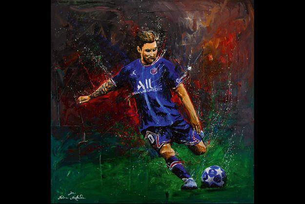 Pour le peintre Rémi Bertoche, Messi est une source d'inspiration.