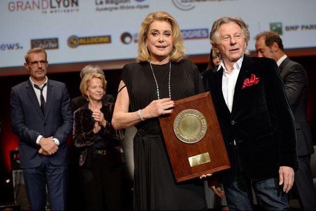 Catherine Deneuve et Roman Polanski au festival des Lumières de Lyon