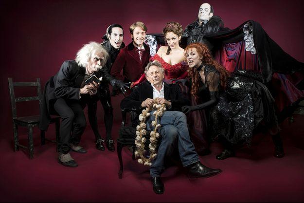 """Roman Polanski et la troupe du """"Bal des vampires"""""""