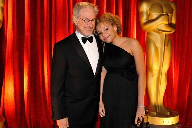 Steven Spielberg et sa fille Mikaela aux Oscars en 2009
