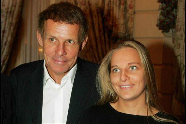 Patrick Poivre d'Arvor et sa fille Morgane, en 2004.