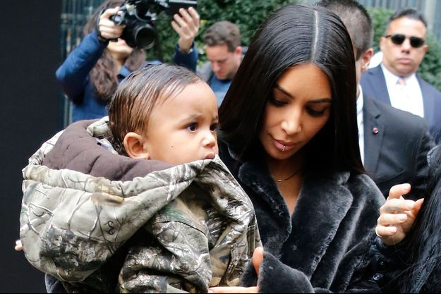 Kim Kardashian et son fils Saint West