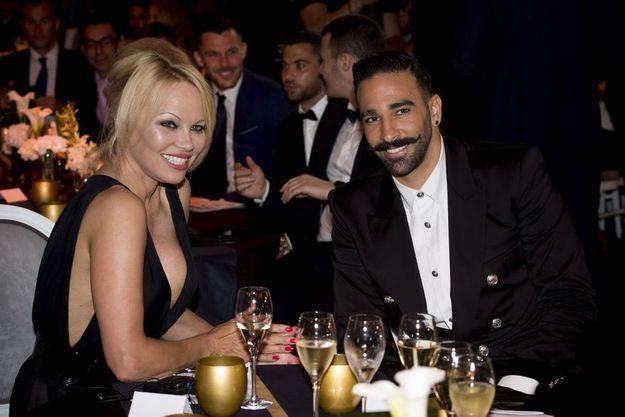 Pamela Anderson et Adil Rami le 19 mai 2019.