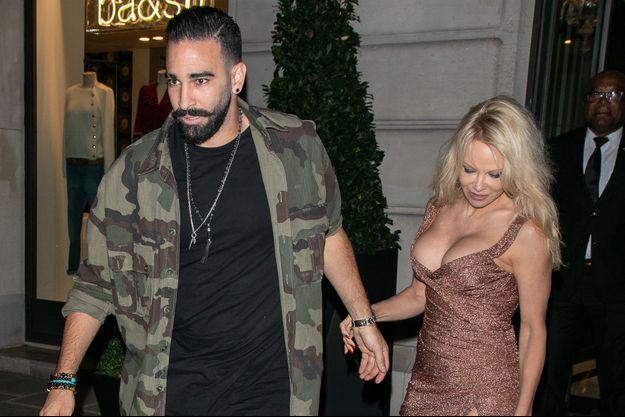 Adil Rami et Pamela Anderson à Paris en septembre 2018