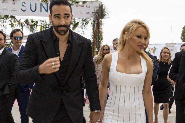Adil Rami et Pamela Anderson en mai 2019.
