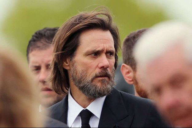 Jim Carrey lors des obsèques de Cathriona White, septembre 2015.