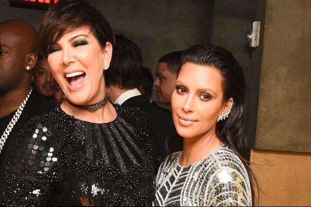 Kim Kardashian et Kris Jenner en mai 2016 à New York.