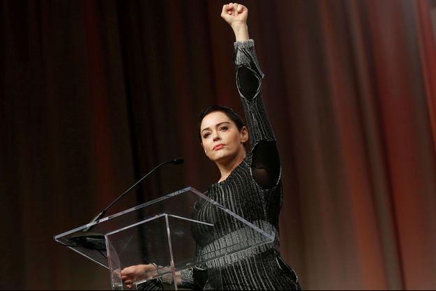 Rose McGowan vendredi à la Convention pour les femmes à Detroit.