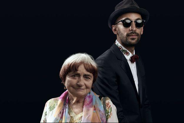 Agnès Varda et JR à Cannes.