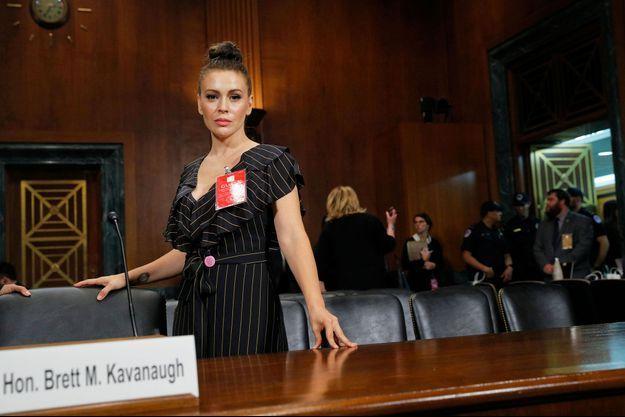 Alyssa Milano le 27 septembre le jour de l'audition de Christine Blasey Ford, au Sénat.