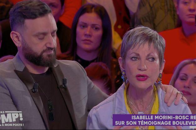 "Cyril Hanouna et Isabelle Morini-Bosc à ""TPMP"" mardi."