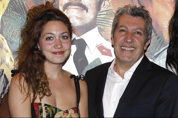 Alain Chabat et sa fille Louise en 2012