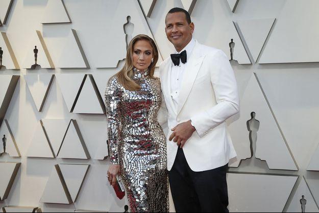 Jennifer Lopez et Alex Rodriguez à Los Angeles, le 24 février 2019