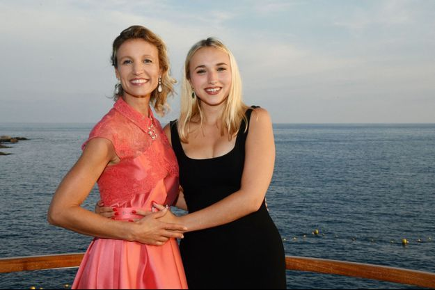Alexandra Lamy et Chloé Jouannet en 2018 à Antibes.