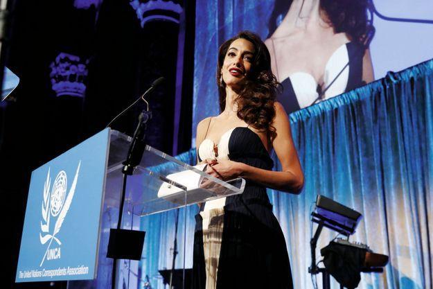 Au gala de l'Association des correspondants de presse des Nations unies, elle reçoit le prix Global Citizen of the Year, le 5 décembre 2018.