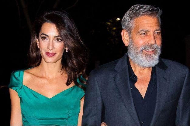 Amal et George Clooney à New York en octobre 2019
