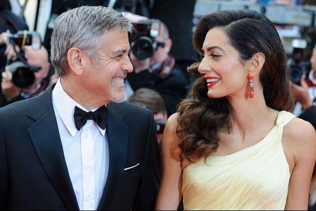 Amal et George Clooney au festival de Cannes, mai 2016.
