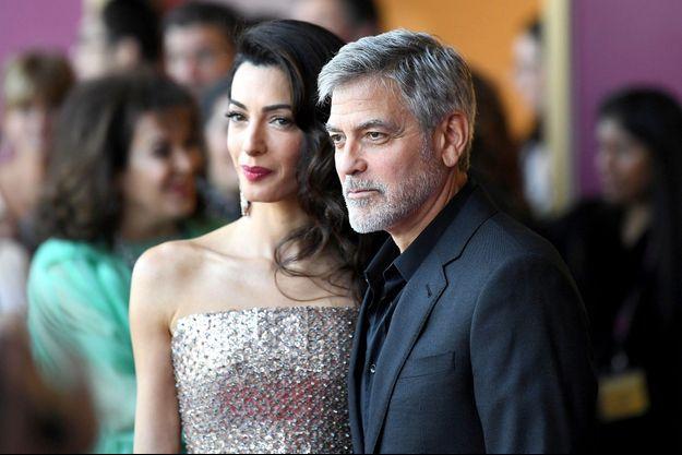 Amal et George Clooney à Londres le 15 mai 2019.