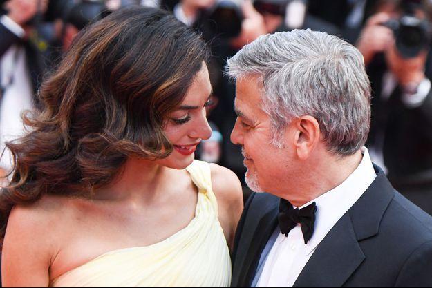 Amal et George Clooney au festival de Cannes 2016.