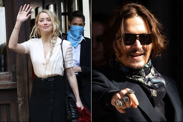 Amber Heard et Johnny Depp à Londres le 20 juillet 2020