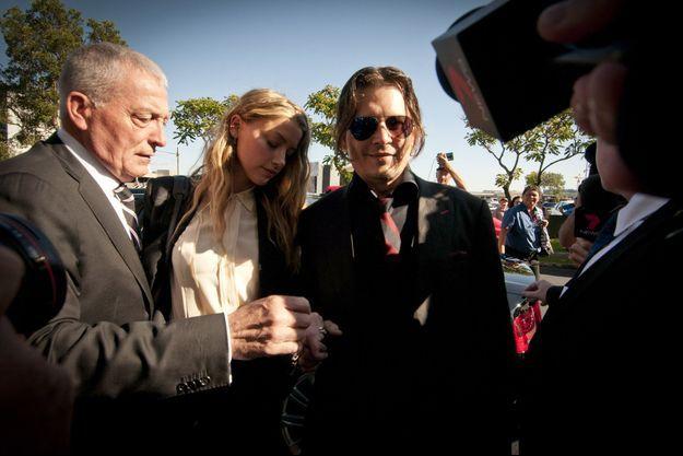 Johnny Depp et Amber Heard, en Australie, en avril 2016.