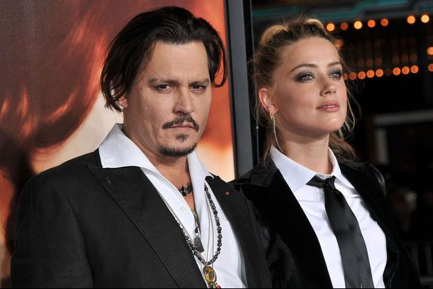 Amber Heard et Johnny Depp en novembre 2015.