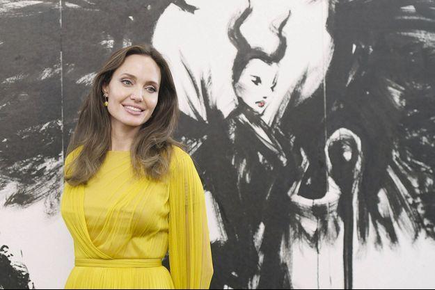 Angelina Jolie, le 4 octobre 2019, lors d'une visite à Tokyo pour promouvoir son dernier film «Maléfique : Le Pouvoir du mal».