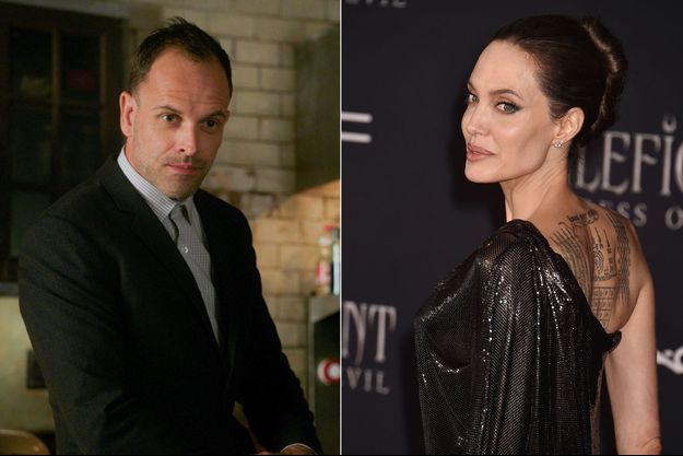 "Jonny Lee Miller (dans la série ""Elementary"" en 2019) et Angelina Jolie"