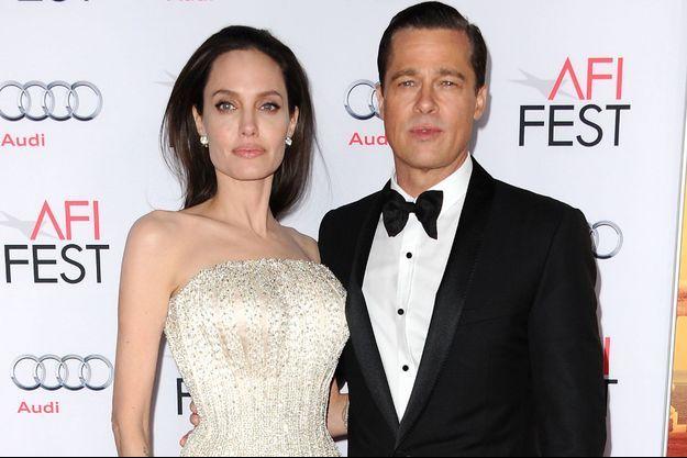 Angelina Jolie et Brad Pitt à Hollywood en 2015.