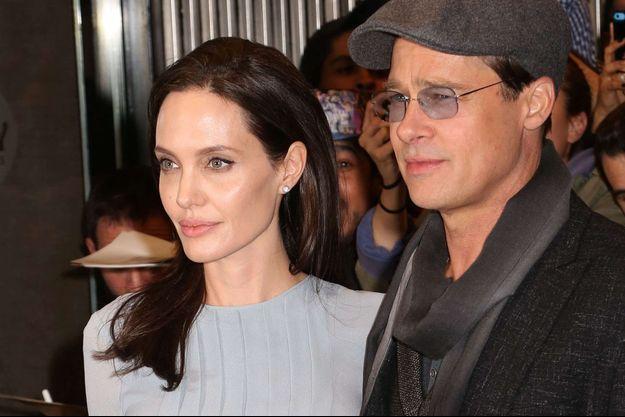 Angelina Jolie et Brad Pitt à New York en 2015.