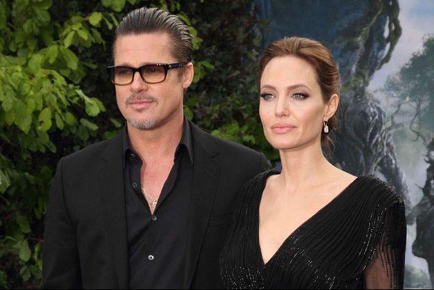 Brad Pitt et Angelina Jolie en mai 2014.