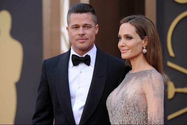 Brad Pitt et Angelina Jolie aux Oscars en mars 2014