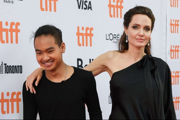Angelina Jolie et son fils Maddox en septembre 2017