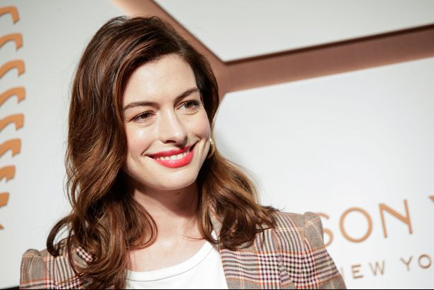 Anne Hathaway à New York, le 14 mars 2019