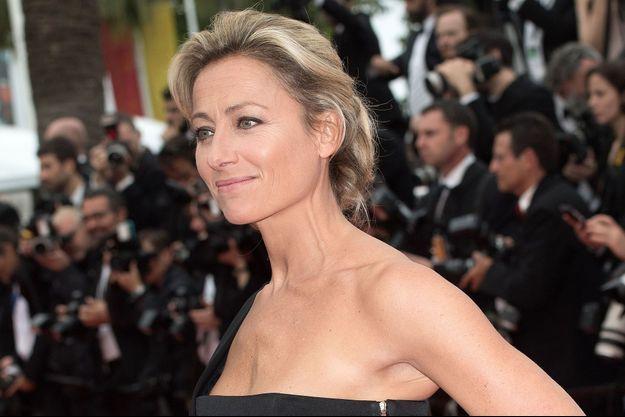 Anne-Sophie Lapix à Cannes en 2016.