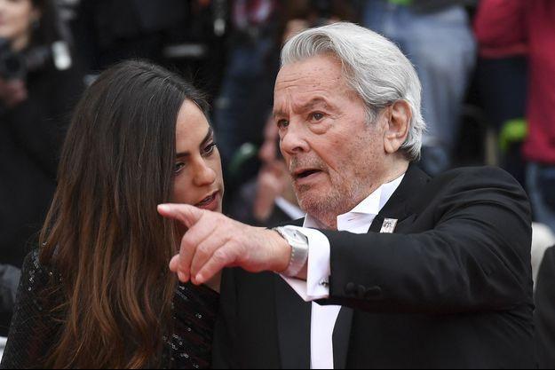 Anouchka et Alain Delon sur le tapis rouge du Festival de Cannes en 2019