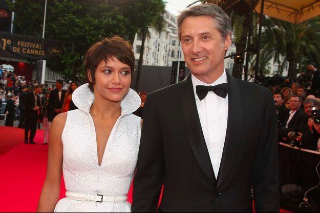 Emma et son père Antoine de Caunes