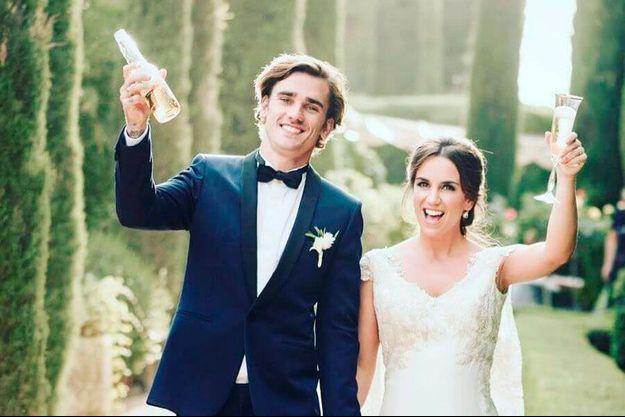 Antoine Griezmann et sa femme Erika