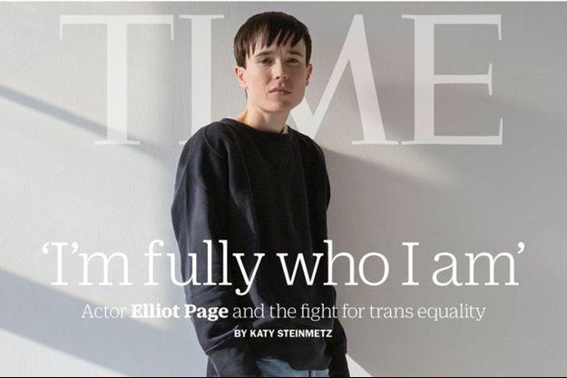 """Elliot Page photographié pour le magazine """"Time"""""""
