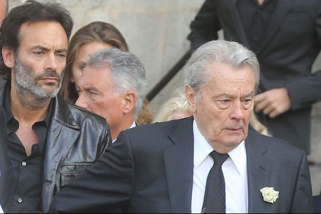 Alain et Anthony Delon.