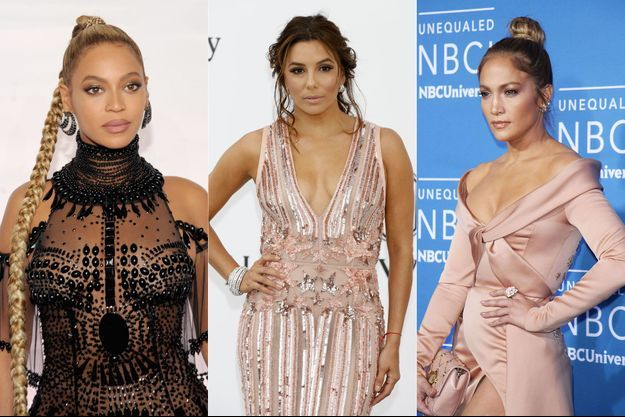 Beyoncé, Eva Longoria et Jennifer Lopez.