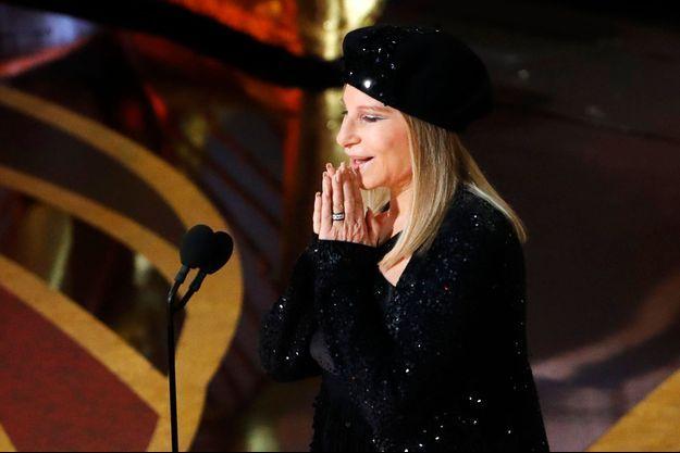 Barbra Streisand lors de la dernière cérémonie des Oscars.