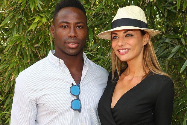 Ariane Brodier et son compagnon Fulgence Ouedraogo à Roland Garros en juin dernier.