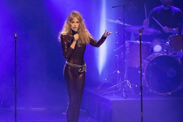 Arielle Dombasle et Nicolas Ker en concert à Cannes.